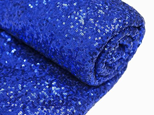 Royal Blue Sequin (3 Feet 1 Yards-Royal Blue-Sequin Fabric, By the Yard, Sequin Fabric, Tablecloth, Linen, For Xmas Decor (Royal Blue))