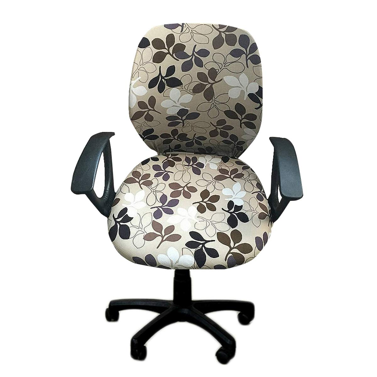 Deisy Dee Universal Computer Office Rotating Stretch Polyester Chair Cover C090 (Style 1)