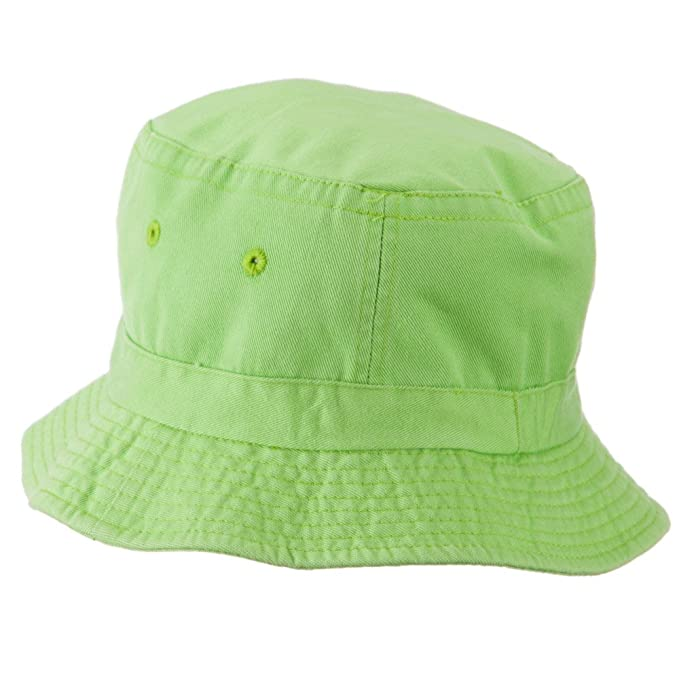 1ed62afb Amazon.com: Cameo Youth Pigment Dyed Bucket Hat-Apple Green OSFM: Clothing