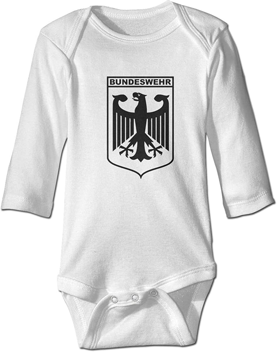 Cnfoldjfong Bundeswehr Logo with Text Long Sleeve Baby Romper