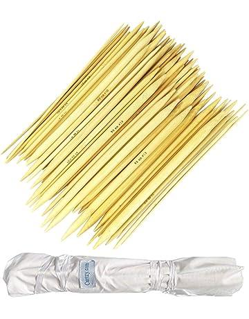 ago 2mm-12mm DeliaWinterfel Set da 16 Paia//32 Pezzi di Ferri da Maglia in bamb/ù da 40cm per Maglieria Circolare Lavori di Uncinetto by con Custodia