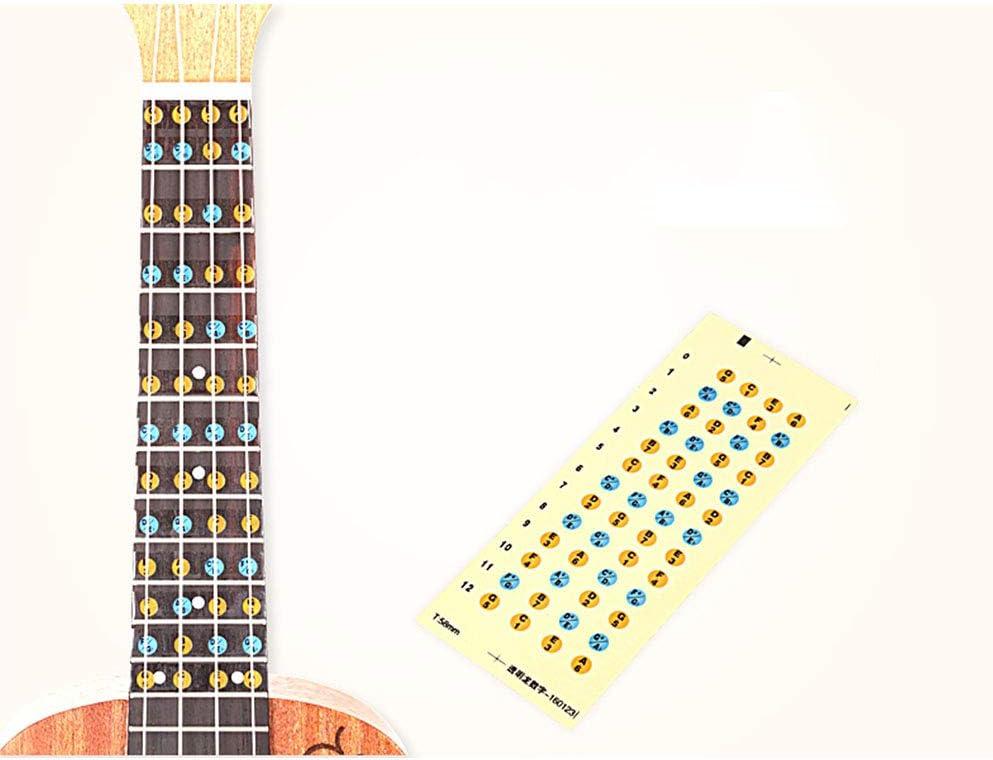 Ogquaton Notas del diapasón de la guitarra Diapasón del diapasón ...