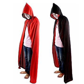 Damen Herren Halloween Umhang Karneval Fasching Kostum Cosplay Cape