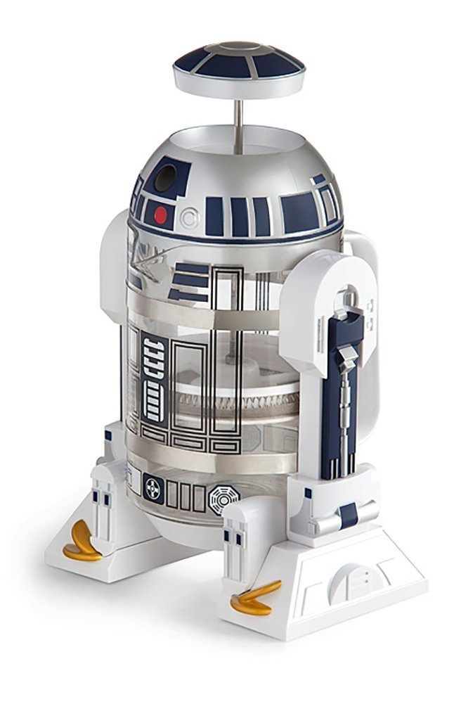 ThinkGeek Star Wars Coffee Press R2D2 Limited Edition 4 Cup French Press - Includes Glass Carafe, Plunger & Filter Inc.