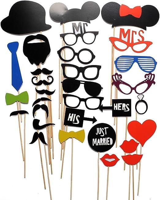 Miryo-31pcs Juego de Accesorios de Photocalls Máscaras Disfraces ...