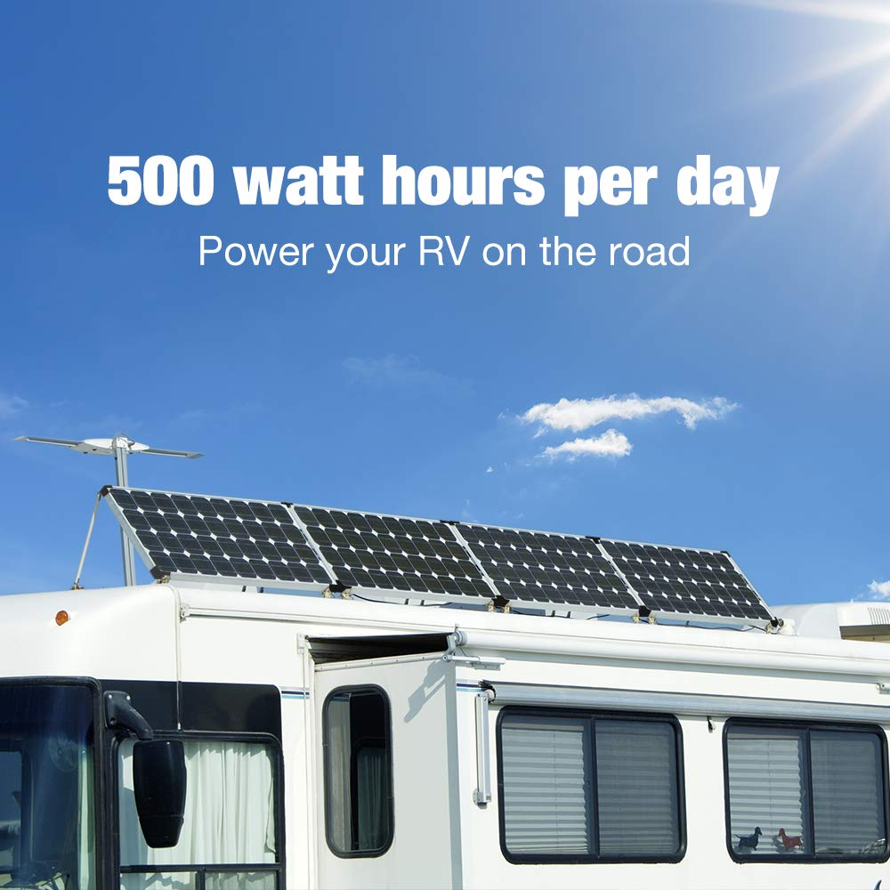 kinverch 100 Watts 12 Volts Monocrystalline Solar Panel for 12 Volt Battery Charging,RV's and Boats by kinverch (Image #5)