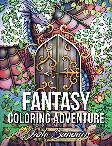 Fantasy Coloring Adventure: A Magical World of Fantasy Creatures, Enchanted Animals, and Whimsical Scenes -