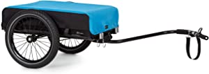 "Klarfit Companion Bike Trailer Cargo Trailer Trolley - Loading Area: 42 x 63 cm / Approx. 50 L / 2 Beverage Crates, 40 kg Load, Powder-Coated Steel Frame, 16"" Wheels, Waterproof Cover"