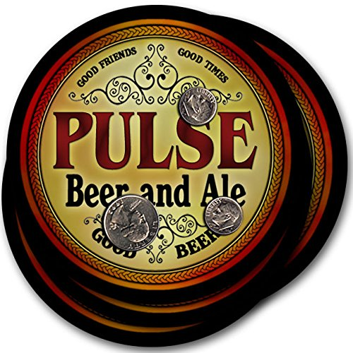 パルスビール& Ale – 4パックドリンクコースター   B003QXVZ4S