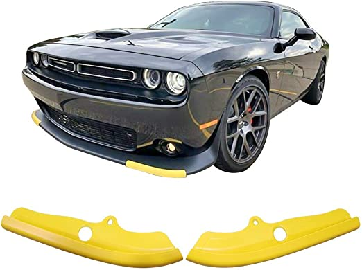 Black AUXMART Front Bumper Lip Splitter Protector for Dodge Challenger 2015-2020