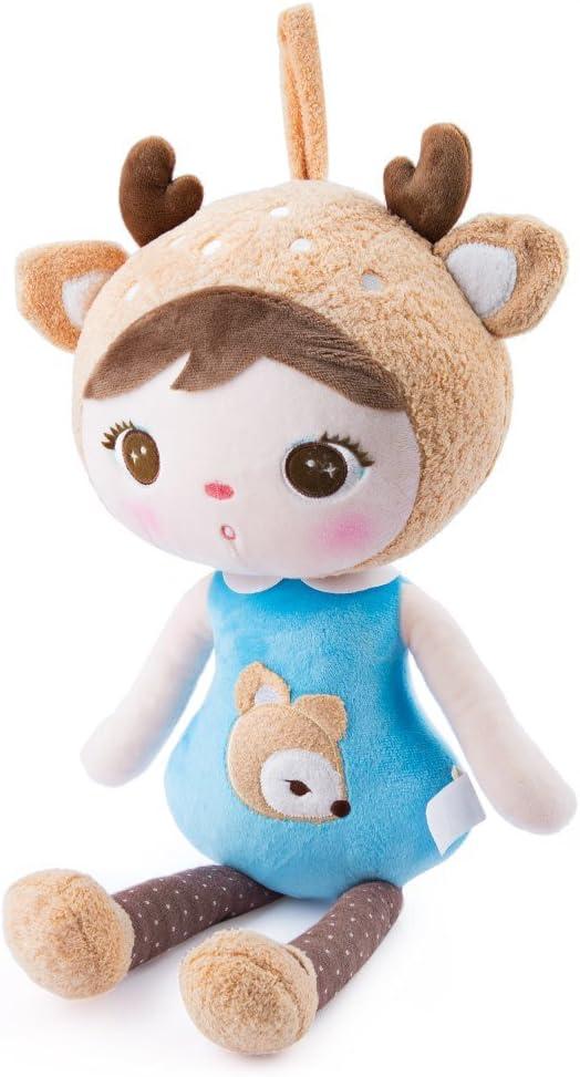 Metoo Muñeca Keppel niñas la muñeca del bebé regalos de cumpleanos 16 (chica ciervos): Amazon.es: Juguetes y juegos