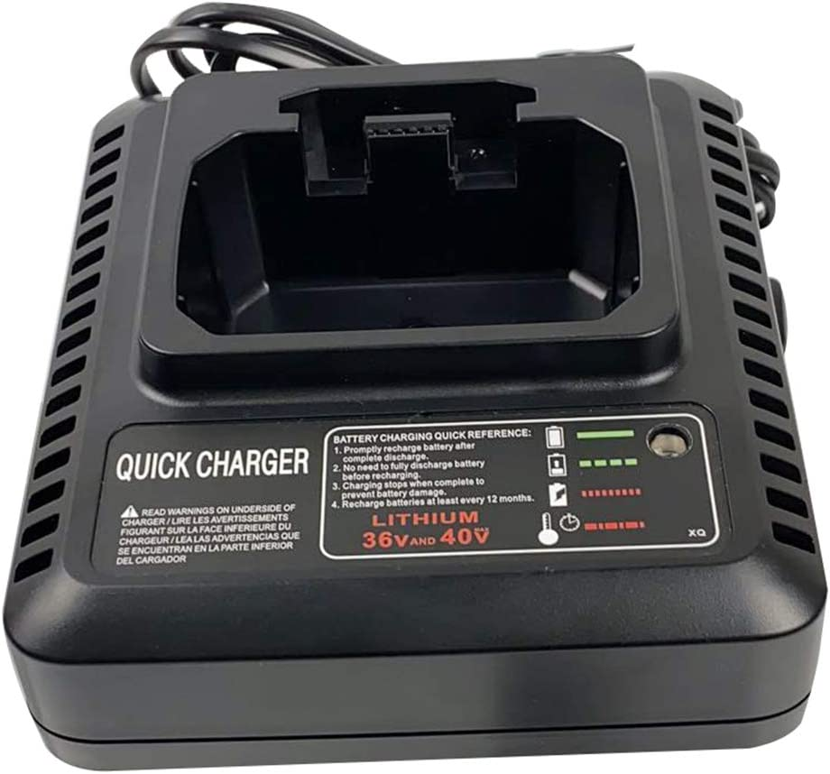 UNGINO 40V MAX Fast Charger for Black+Decker LCS36 LCS40, Compatible Black & Decker 36V 40V Max Lithium ion Battery LBXR36 LBX36 LBXR2036 LBX2040 Black Decker 40V Battery Charger…