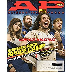 Alternative Press Magazine AP 265.2 August 2010 SUMMER ROCK SPACE CAMP Warped Tour VERSAEMERGE Four Year Strong ANDREW W.K. Embrosa THE RED ROCKET SUMMER Bring Me The Horizon ALKALINE TRIO