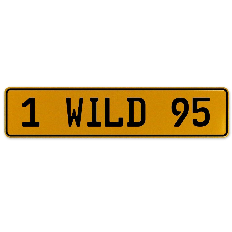 Vintage Parts 561029 1 Wild 95 Yellow Stamped Aluminum European Plate