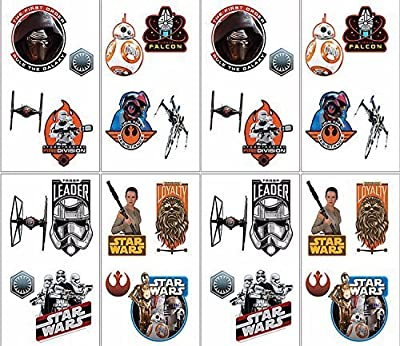 Star Wars Episode VII The Force Awakens Temporary Tattoos Birthday Party Favors