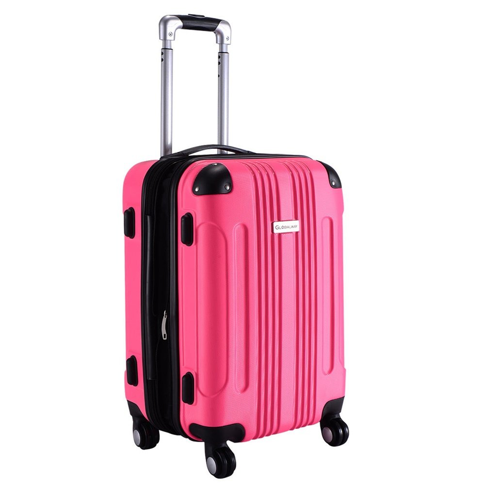 ABS Travel Bag Hot Pink 20'' by Inter Wealthy Store