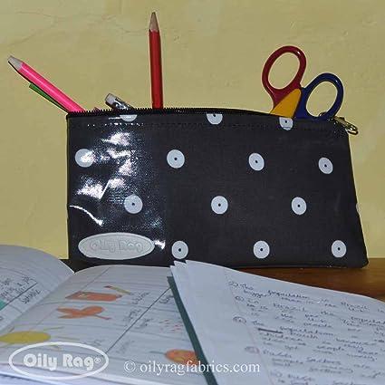 Pizarra lunares estuche escolar/bolso por huellas de trapo ...