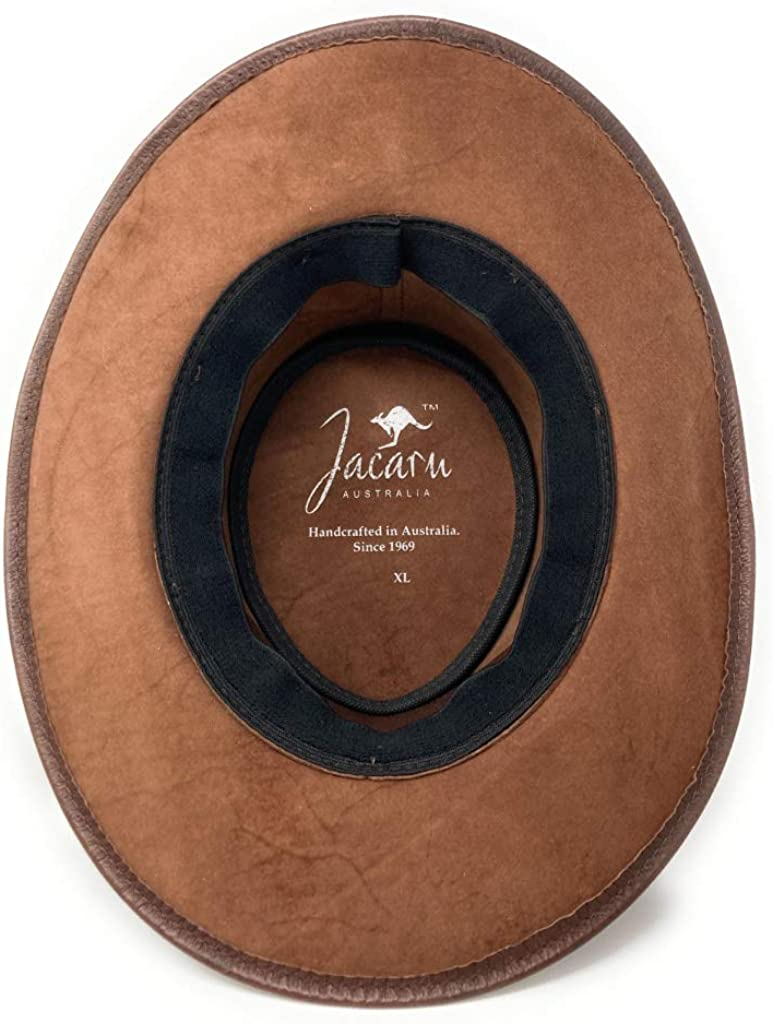 Brown Jacaru 1001P Premium Kangaroo Leather Hat