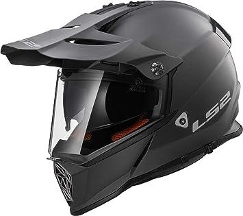 LS2 nbsp;Mx436 Pioneer Casco para moto, color negro titanio mate, XXL