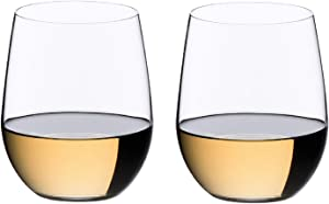 Riedel O Wine Tumbler Chardonnay/Viognier, Set of 2, Clear -