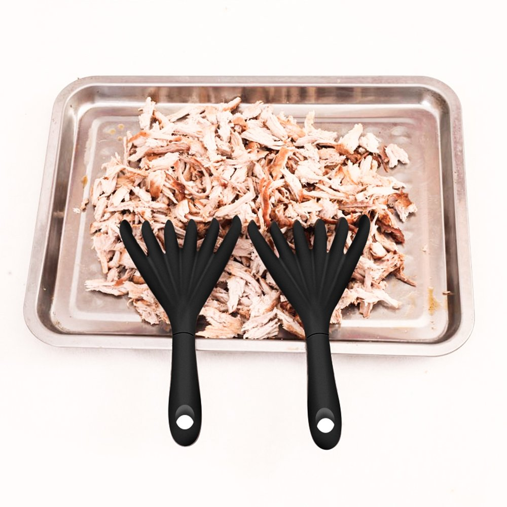 AWESE Grips Meat Shredding Claws with Handles - Easily Lift, Bear Paws Shredder Claws, Meat Shredding Forks - BBQ Grilling Accessories from Grill Beast- Heat Resistant Nylon by AWESE (Image #5)