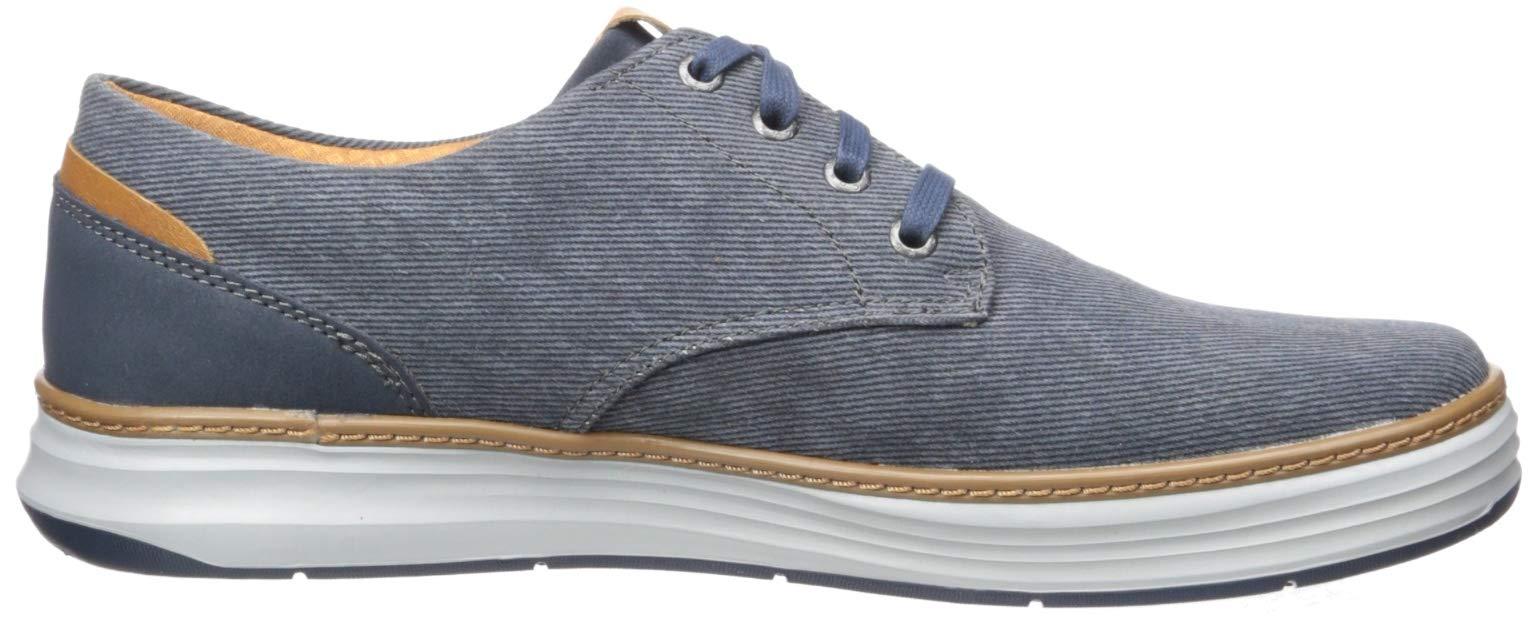 KHK 12 Medium US Skechers Mens Moreno Canvas Oxford Shoe