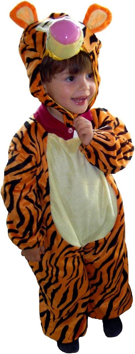 EL CARNAVAL Disfraz Tigre Bebe niño Talla de 1 a 2 años: Amazon.es ...