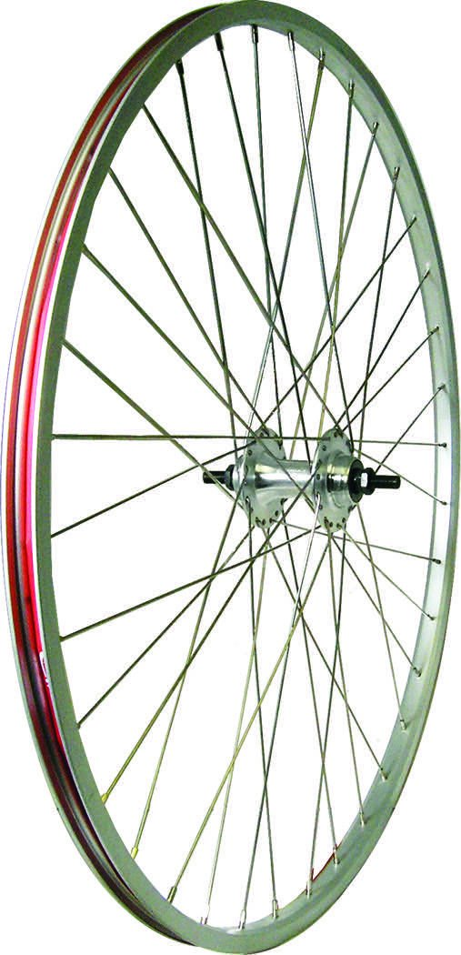 Action Wheel Alloy 27X1.1/4 Rear Track With Lock Nut