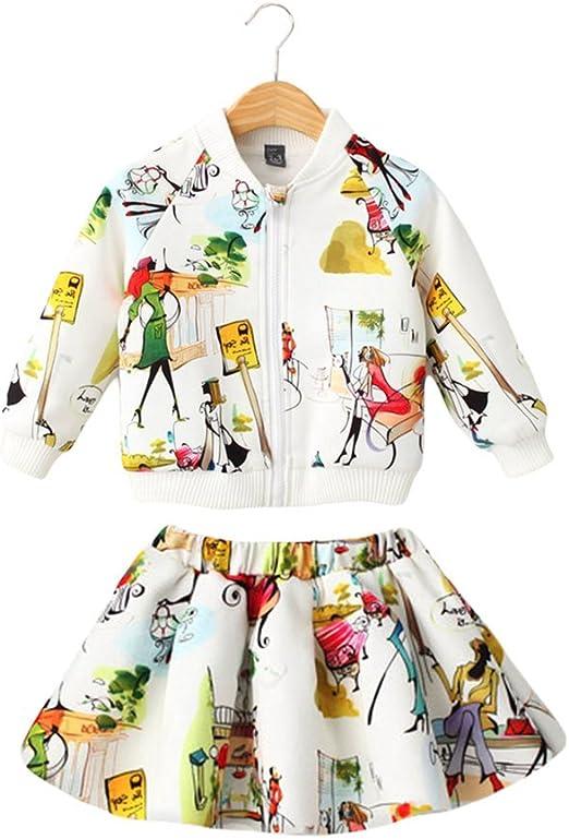 Sanlutoz Niños Conjunto falda chaqueta chica Equipo 2pcs Conjunto ...