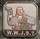 us army sewing kit - WHAT WOULD JESUS SHOOT? WWJS US ARMY TACTICAL MORALE BADGE MULTICAM HOOK VELCRO PATCH
