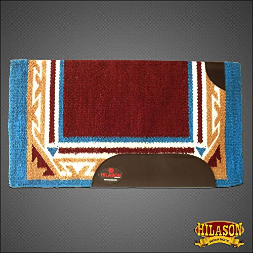 Hilason Western New Zealand Wool Saddle Blanket Horse Rodeo Brown Turquoise