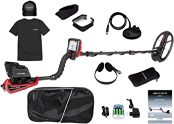 Makro 1448-RACERP Racer Pro Package Metal Detector, Black/Red
