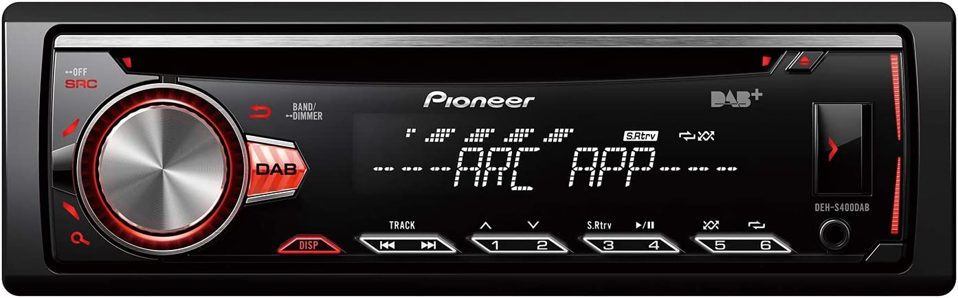 Pioneer Deh S400dab Multifunctional Cd Car Radio With Dab Usb And Aux In Separate Rgb Lighting For Display And Buttons Adjustable Black Auto