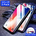 iPhone X Screen Protector, 2-Pack [Ultra Slim] iPhone X Tempered Glass Screen Protector with Alignment Frame for Apple iPhoneX/10 5.8-inch 2017, [Case Friendly] Anti-Fingerprint by Ainope