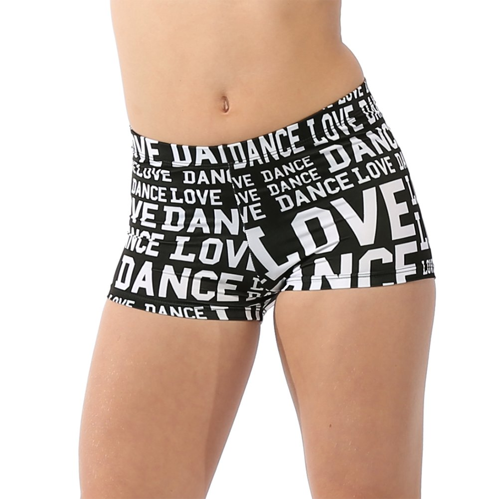 Alexandra Collection Womens Love Dance Athletic Booty Short White Medium