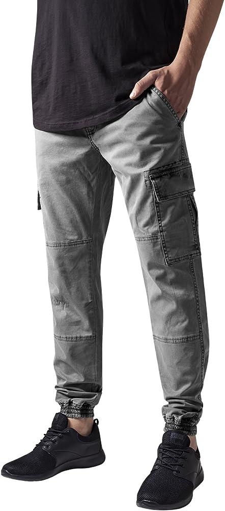 Urban Classics Washed Cargo Twill Jogging Pants Pantalones, Gris ...