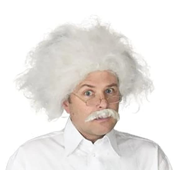 4e02082b92b Albert Einstein Wig and Mustache Adult Costume Accessory