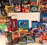Ultimate College Care Package ''I Love Studying'' Gift Box Basket - We've Got the Good Stuff! - Over 6 Pounds, 44 Items - HS, Undergrad, Graduate, Military, Graduate, Doctoral, Officer Training - Prime