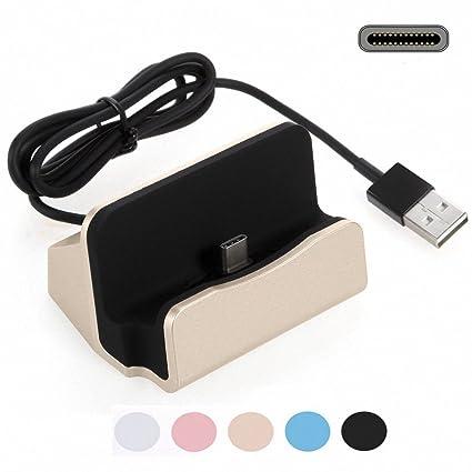 G-Hawk Huawei P20 Pro Estación de carga del cargador USB C, Play Dock Tipo C Estación de carga de sincronización de datos Cargador Cargador de ...