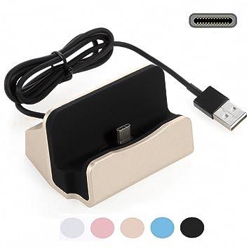 G-Hawk Xiaomi PocoPhone F1 Estación de Carga del Cargador USB C, Play Dock Tipo C Estación de Carga de sincronización de Datos Cargador Cargador de ...