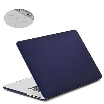 lention Estuche rígido con Tapones de Puerto para MacBook Pro (Retina, 15 Pulgadas, 2012 a 2015) - Modelo A1425 y A1500, Acabado Mate con pies de Goma ...