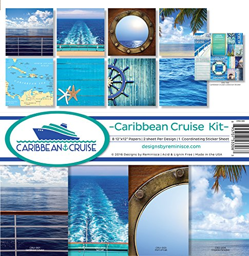 Reminisce CRU-200 Caribbean Cruise Scrapbook Collection Kit