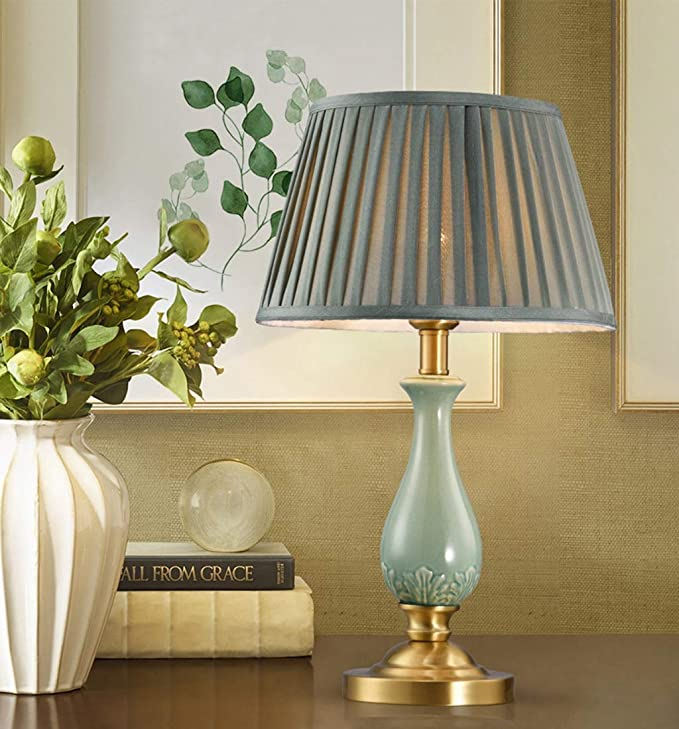 Amazon.com: WFL-% Table lamp Table Lamp All-Copper Ceramic ...