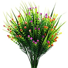 Babys Breath Artificial Flowers - Pack of 6 Gypsophila Artificial Fake Silk Plants for Wedding Party Decoration DIY Home Garden(White, Yellow, Purple, Rose Red, Red, Orange Red)