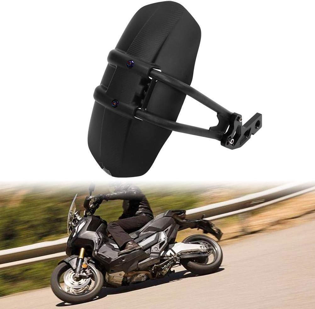 Hlyjoon Moto Pneu Garde-boue Arri/ère en Plastique ABS en Alliage daluminium CNC et Noir de Moto Wheel Tire Boue Splash Fender Accessoire de Pare-poussi/ère Bouclier pour X-ADV 2017 2018