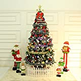 Pre-lit Decorated Christmas tree 6' ft/7' ft/8' ft Battery Operated - Decorated with Ornaments, Snowflakes, Cones, Stars, Gift Boxes etc. (7 ft)