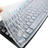 Ultra Thin Desktop PC Silicone Clear Keyboard Cover Skin Protector Compatible for Logitech MK270 Wireless Keyboard…