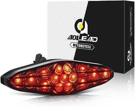 Motorrad Rücklicht Bremslicht Aolead Universal 15leds Rücklicht Für Motorrad Wasserdicht Staubdicht Led Rückleuchten Auto
