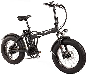 "Tucano Bikes Monster 20 - Bicicleta Eléctrica Plegable fat bike 20"" con batería integrada Samsung"