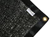 E.share 40%12'X 18' Black Shade Cloth Taped Edge with Grommets Sun Net Sun Mesh Shade Sunblock Shade Sail UV Resistant Net For plant cover For Greenhouse Flowers, Plants, Patio Lawn